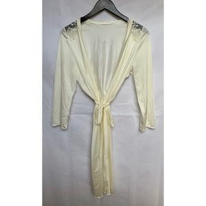Tiriana Metallic Gold Robe with Tie Waist Belt